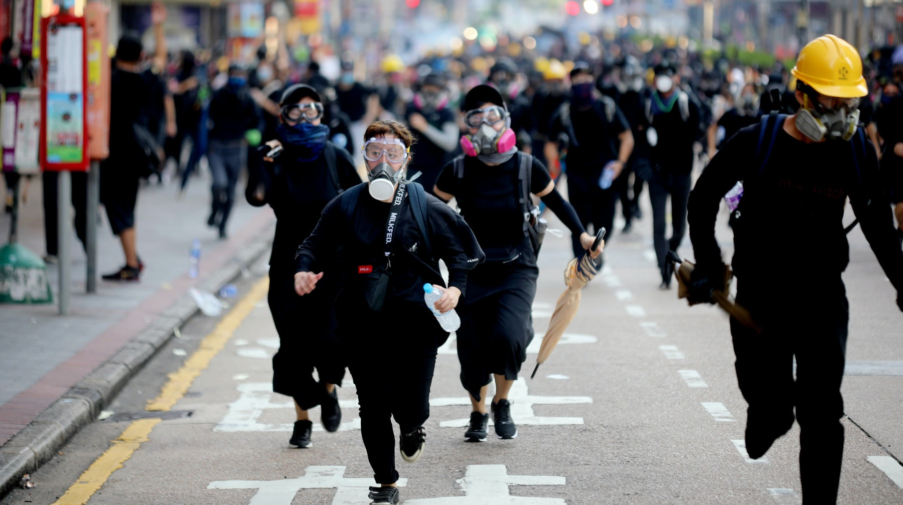 Protestors in Hong Kong on October 1, 2019   Source: Shutterstock