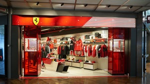 Entrance to the Ferrari Store in Venice Marco Polo Airport | Shutterstock