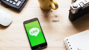 Line messaging app | Source: Shutterstock