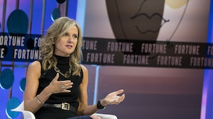 Kohl's CEO Michelle Gass speaks during Fortune's Most Powerful Women Summit in October | Source: Sarah Silbiger/Bloomberg via Getty Images
