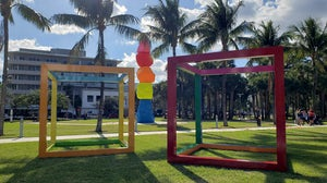 An Art Basel exhibit in Miami Beach on display on in December 2019.   Photo: Shutterstock