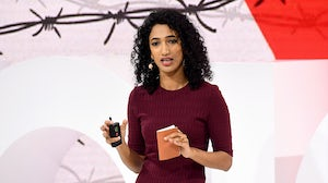 Trisha Shetty on stage at VOICES 2019   Source: Getty Images for The Business of Fashion