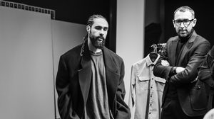 Fear of God's Jerry Lorenzo (left) and Zegna Creative Director Alessandro Sartori