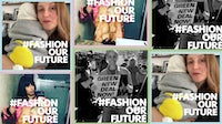 Amy Powney, Jameela Jamil and Amber Valletta engage with new campaign Fashion Our Future | Source: Instagram/@fashionourfuture