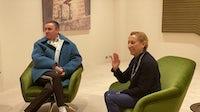 Raf Simons and Miuccia Prada at the Fondazione Prada in Milan | Image: BoF