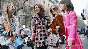 Milan Fashion Week 2018 street style shot | Source: Shutterstock