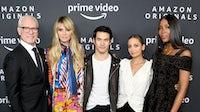 (L-R) Tim Gunn, Heidi Klum, Joseph Altuzarra, Nicole Richie and Naomi Campbell attend the Amazon Studios 2020 Winter TCA Press Tour at Langham Hotel | Source: Getty Images