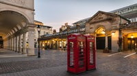 London's Covent Garden Market, normally crowded with tourists and shoppers, was deserted on April 4. | Source: Getty Images