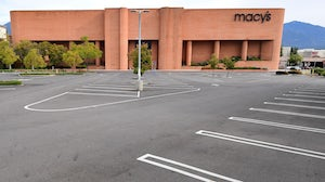 An empty Macy's parking lot | Source: Getty Images
