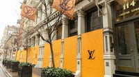 Some stores like Louis Vuitton are boarding up during lockdown | Source: Getty Images