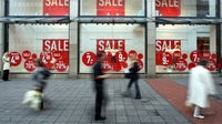 Sales in 2008 when the global recession forced stores to offer deep discounts | Source: Patrik Stollarz/Getty Images
