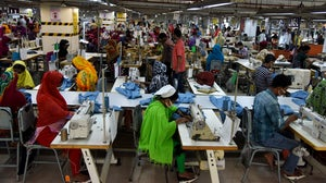 A garment factory on the outskirts of Dhaka, Bangladesh | Source: Getty