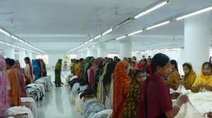 Garment workers in a textile factory in Dhaka, Bangladesh | Source: Shutterstock