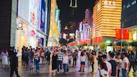 Busy shopping street in Shanghai, China | Source: Shutterstock