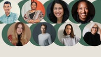Clockwise, from top left: Chip Bergh, Kalpona Akter, Amina Razvi, Aniyia Williams, Eileen Fisher, Nicole McLaughlin, August Bard-Bringéus, Sarah Ditty.