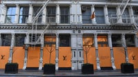 A boarded up Louis Vuitton storefront in SoHo, New York | Source: Getty Images