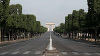 The Arc de Triomphe and the empty Champs Elysees  | Source: Getty Images