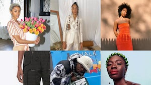Brother Vellies designer Aurora James is calling on retail to support black-owned businesses.   Collage by BoF