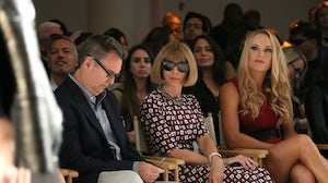Stuart Emmrich and Anna Wintour at a fashion show in 2014 | Source: Monica Schipper/Getty Images