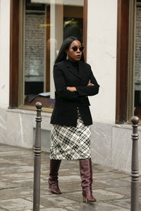 Tiffany Reid shortly after a racist incident at Paris Fashion Week | Photo: Saleen Saleh