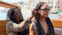 Hair stylist Lacy Redway, one of the co-founders of the Black Fashion & Beauty Collective, with actress Tessa Thompson | Source: Instagram @lacyredway
