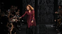 Diane Von Furstenberg walking the runway at a fashion show on February 15, 2015. | Source: Shutterstock