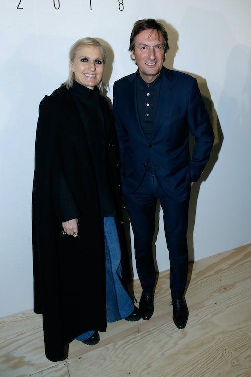 Maria Grazia Chiuri and Pietro Beccari | Source: Getty Images
