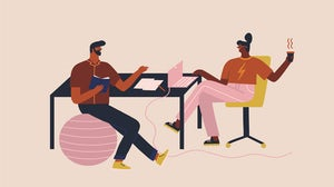Illustration of workplace friendship | Source: Shutterstock