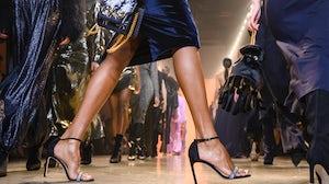Models walk the runway at a Cushnie fashion show in 2019 | Source: Peter White/FilmMagic