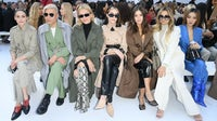Olivia Palermo, Bryan Boy, Tina Leung, Brittany Xavier, Paola Alberdi,  Erica Pelosini and Jessica Wang attend the Max Mara show during Milan Fashion Week in February | Source: Getty Images