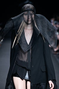 A look from the Ann Demeulemeester Spring/Summer 2014 show at Paris Fashion Week | Source: Courtesy