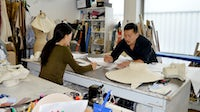 Designer Eudon Choi and his team behind the scenes  | Source: Courtesy