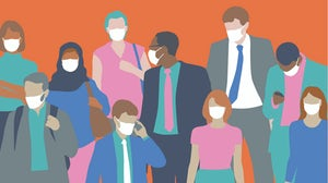 Workforce in facemasks illustration | Source: Getty Images