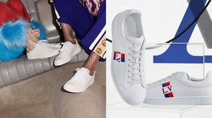 Luxury sneakers resembling Adidas' iconic white Stan Smith tennis shoe | Source: @gucci, @louisvuitton