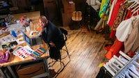 Christopher John Rogers in his Soho studio | Photo: Elliott Jerome Brown Jr. for BoF
