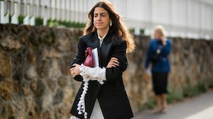 Leandra Medine Cohen, founder of Repeller, helped create a fashion publication known for its quirky writing and high-low styling. | Source: Getty Images