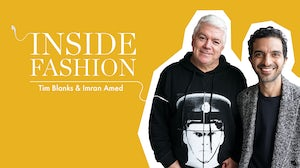Tim Blanks and Imran Amed | Source: Courtesy