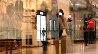 Inside the Westfield Santa Anita shopping mall in Arcadia, Calif. | Source: Getty