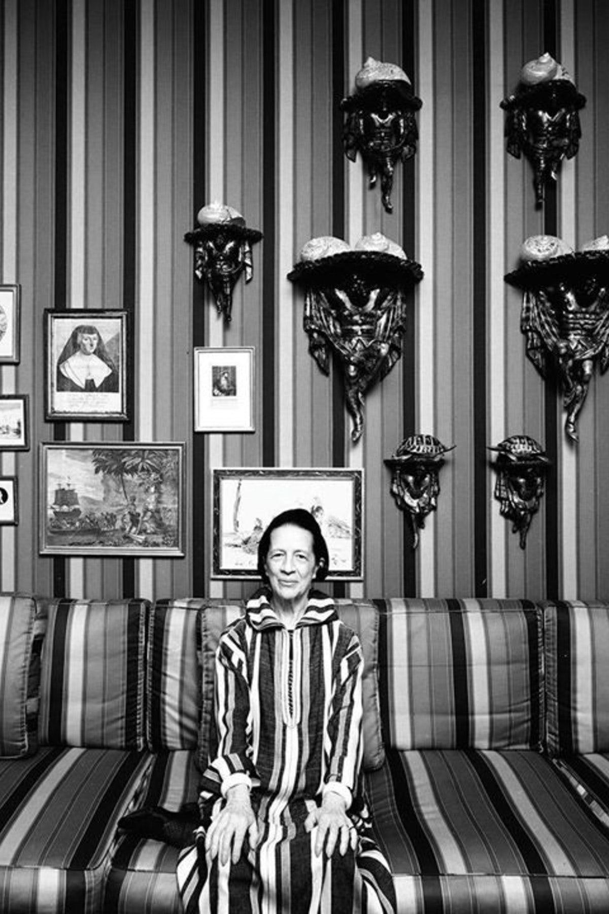 F A V O U R I T E 5 : Striped Interiors   Diana Vreeland By Arnold Newman,  1974 #dianavreeland #interiors #decor #hohfavourite5