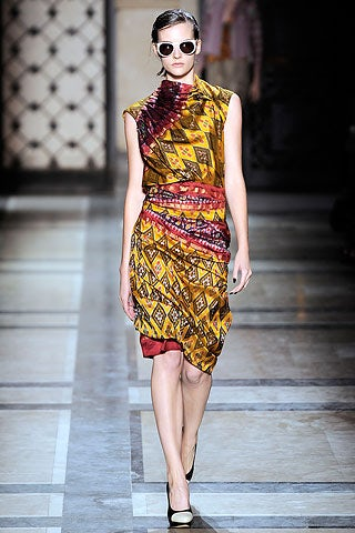 Indonesian Batik in Dries Van Noten S/S 2010 | Source: BoF