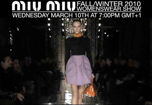 Miu Miu livestream screenshot | Source: Dazed Digital