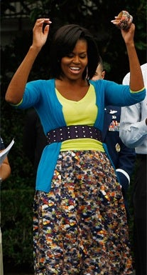 Michelle Obama in Erdem | Source: Grazia