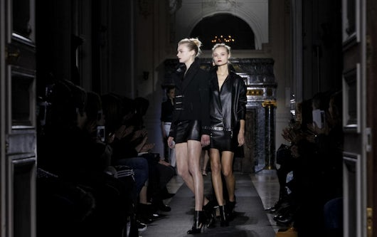 Anthony Vaccarello A/W 2013 at MADE Paris | Source: Nowfashion