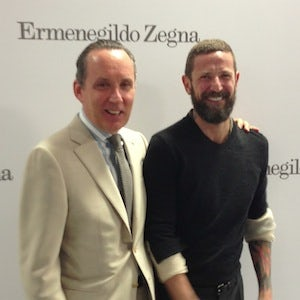 Gildo Zegna and Stefano Pilati after the designer's debut show for Zegna Couture | Source: BoF