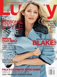 Blake Lively on the cover of Lucky's September 2013 issue