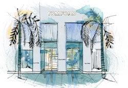 Tom Ford Los Angeles Store | Illustration: Patrick Morgan for BoF