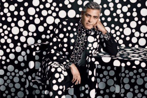 "George Clooney in W Magazine's ""The Artist Issue"" 