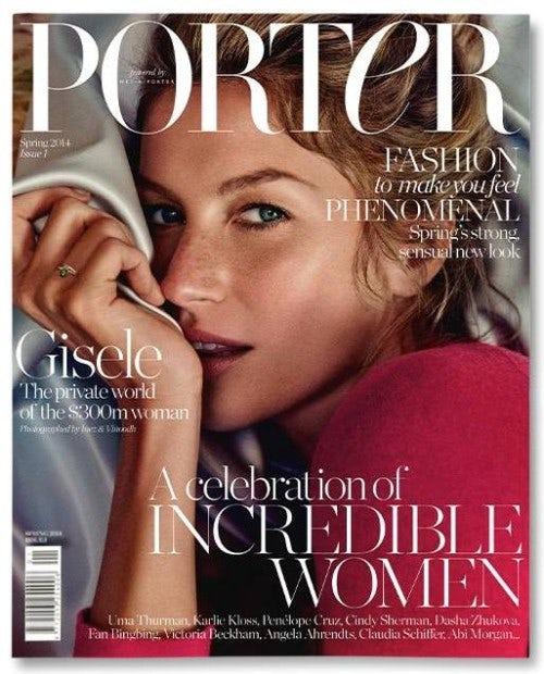 Porter cover featuring Gisele Bündchen shot by Inez & Vinoodh