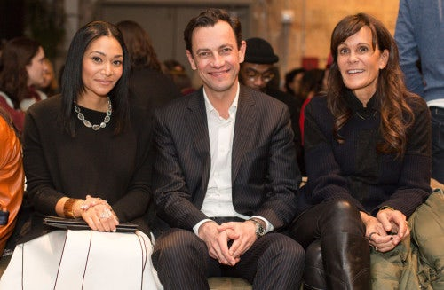 Monique Péan, Pierre Yves Rousseau, Julie Gilhart in the audience | Photo: Benjamin Lozovsky/BFAnyc.com
