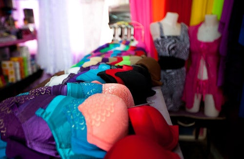 Bras and lingerie for sale | Photo: Dustin Mennie